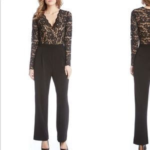 Karen Kane black and nude lace jumpsuit